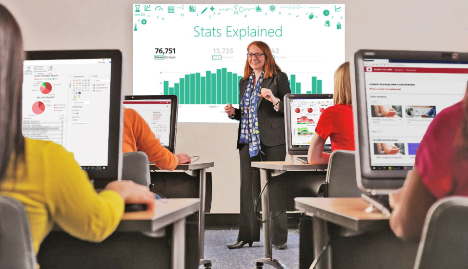 Dr. Noreen O'Connor teaching with technology